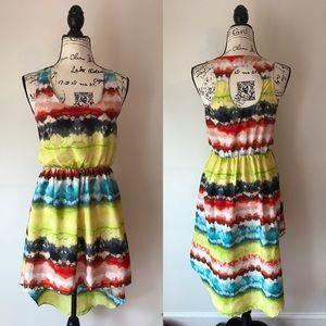 Band of Gypsies dip dye high low dress S